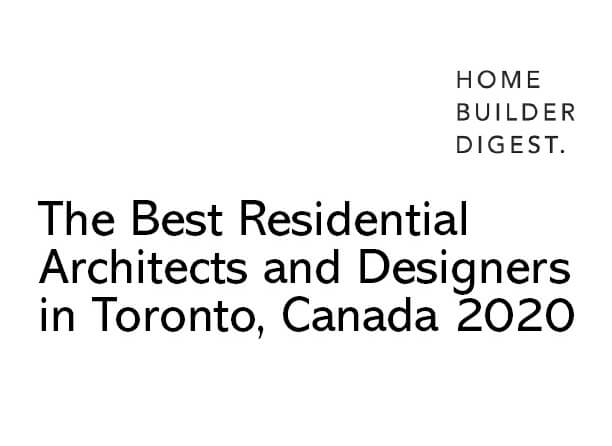 Image of Home Builder Digest Feature Bortolotto Among Best Residential Architects in Toronto.