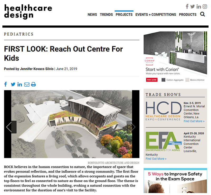 Healthcare Design Magazine Pedatric First Look